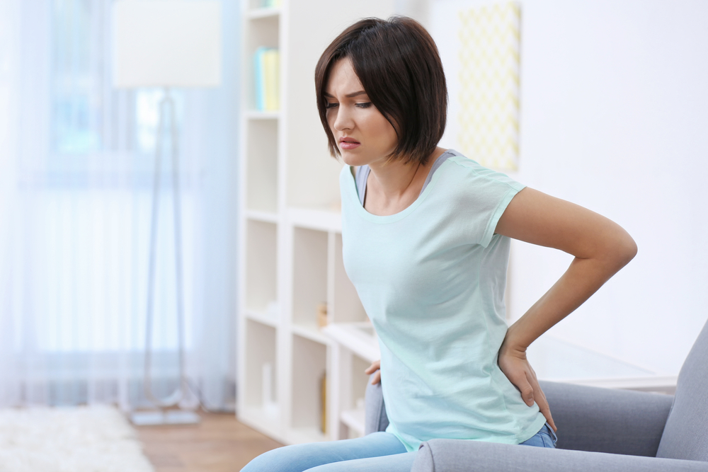 Woman in Tacoma with lower back pain